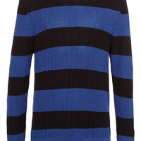 Black And Blue Stripe Sweater - New In - TOPMAN USA