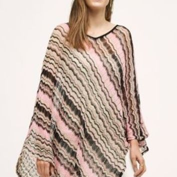 Missoni Alassio Poncho in Pink Size: One Size Sweaters