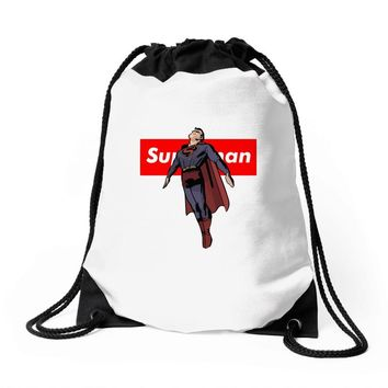 superman 2 Drawstring Bags