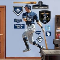 Fathead Tampa Bay Rays Evan Longoria Wall Decals