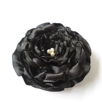 Black Rose Flower Hair Accessories Floral Hairpieces Head Pieces Fascinator