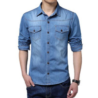 Trending Men's Denim Shirt