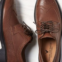 AEO Men's Perforated Leather Wingtip Oxford