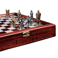 Resin Knights Mortal Conflict Chess Set