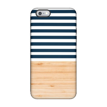FRESH Wooden Navy iPhone Case