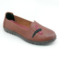 Women's Brown Soft Faux Leather Shoe