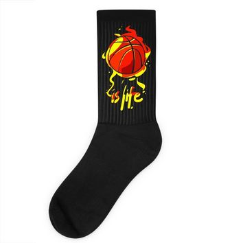 life is basketball Socks