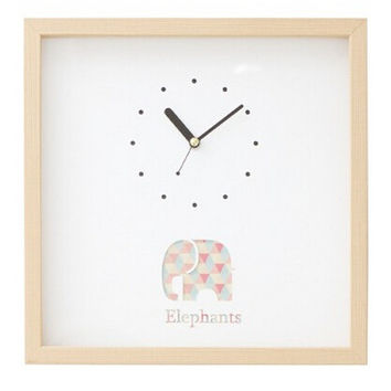 cute elephant wood clock