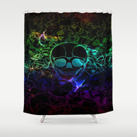 COLORFUL SKULL Shower Curtain by Acus