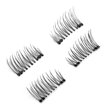 2017 New False Eyelashes Makeup 6D Magnetic Eye Lashes Double Magnet Fake EyeLashes Hand Made Strip Lashes cilios posticos