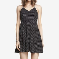 PONY DOT HALTER SLIP DRESS