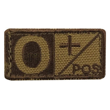 O Blood Type Patch Negative (6 Pack) Color- Tan-Brown