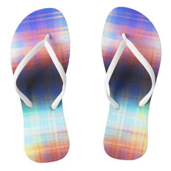 Abstract Design - flip flops - Slin Straps