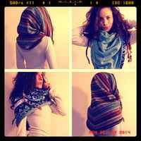 Reversible Cowl Shrug ~ Custom Functional Fashion 4 in 1 ~ Five Traditional Nepalese Fabrics & Stretch Fleece