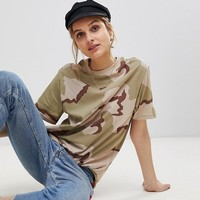 Reclaimed Vintage Revived Camo T-Shirt at asos.com