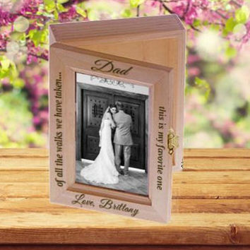 Personalized Father of the Bride Wedding Keepsake Box, Unique Parent Gift, Father of the Bride Gift, Photo Memory Box Engraved Picture Frame