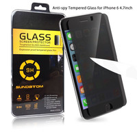 Hot! 9H Anti-spy Privacy Premium Real Tempered Glass Screen Protector Film for iPhone 6 6s Plus 4.7 inch