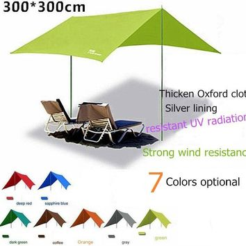 FlyTop family Portable beach sun awning waterproof shade outdoor camping folding shade 4-8 person tent
