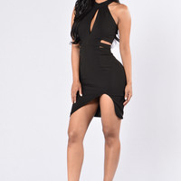 Lock Me Up Dress - Black