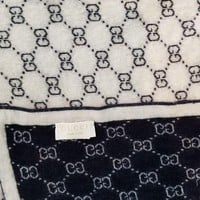 Gucci Baby Gg Pattern Wool Blanket Used Dark Blue