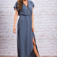 Ethereal Ease Maxi Dress, Blue