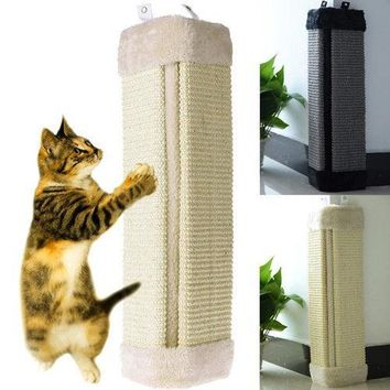 19 Cat Wall Corner Scratching Board Mat Post Tree Sisal Pet Kitten Play Claws Care Interactive""