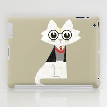 Mark - The Harry Potter Cat iPad Case by Budi Satria Kwan