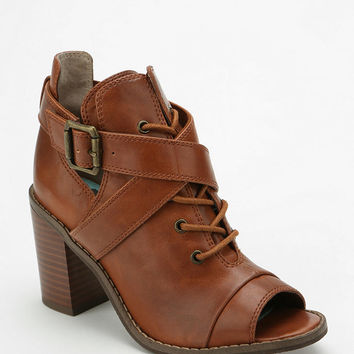 BC Footwear What You See Peep-Toe Ankle Boot - Urban Outfitters