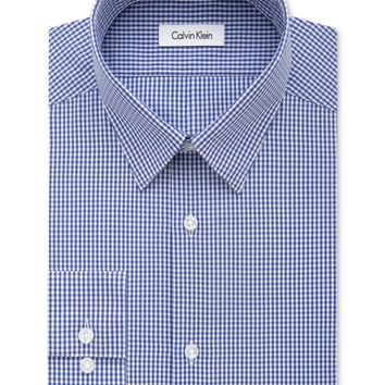 Calvin Klein Men's Slim Fit Check Patterned Dress Shirt