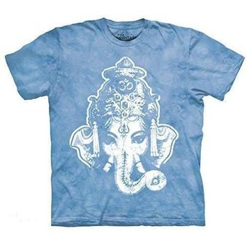 Mens Big Ganesha Tie Dye Tee Shirt