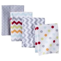 Circo® 4pk Flannel Receiving Blankets - Dots