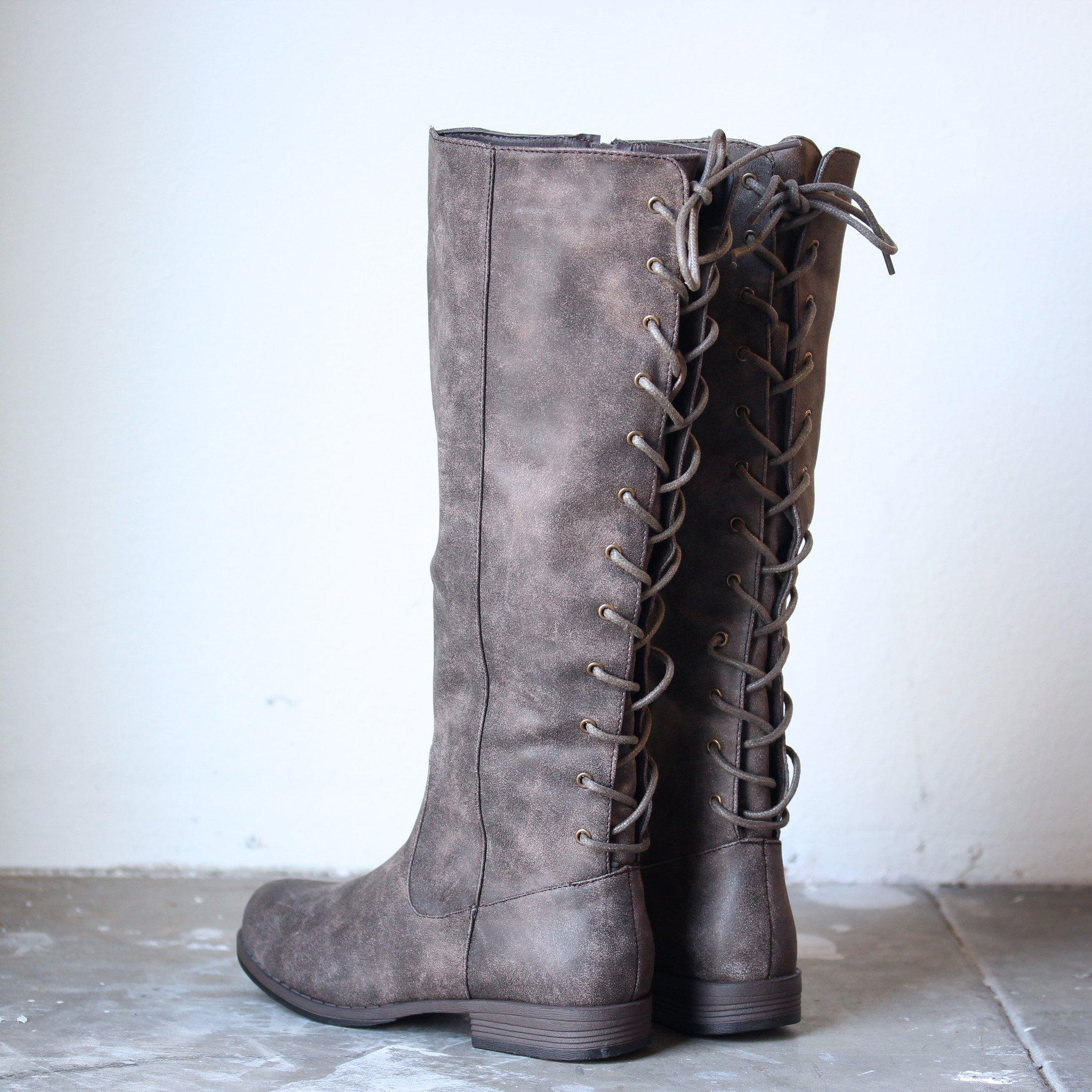 2082aa883eb1 laced up weathered riding boots