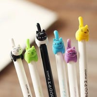 Cute kitten mechanical pencil - 6pcs