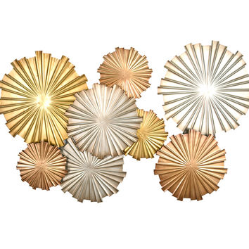 Stratton Home Decor Wall Hanging Multi-Metallic Circles