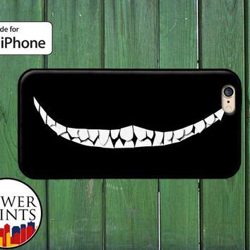 Cheshire Cat Teeth Smile Cool Accessory For Rubber iPhone 4 and 4s and iPhone 5 and 5s and 5c and iPhone 6 and 6 Plus +