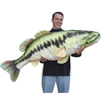 Giant Stuffed Fish Large Bass - Green