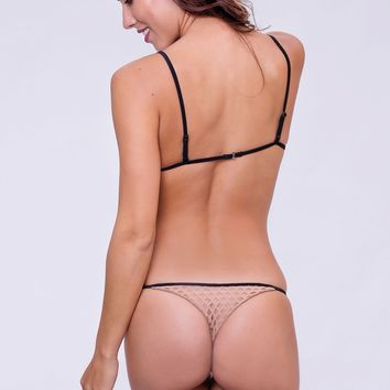 Dbrie Swim Cameron Skimpy Bottom - Nude Net/Black
