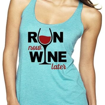 Women's Run Now Racerback Tank Top | Our T Shirt Shack