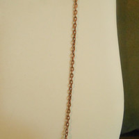36 inch long Single Antiqued Copper Chain Layering Necklace
