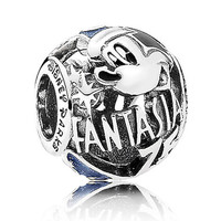 Disney Parks 75th Mickey Sorcerer Fantasia Sterling Silver Charm Pandora New