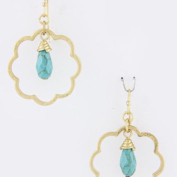 Stella Scalloped Hoop Earrings