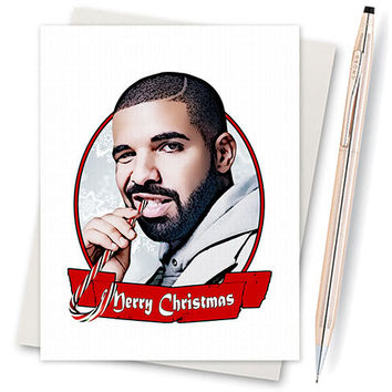 Drake Card  - For Boyfriend - Funny Christmas Card - Cute Gifts For Boyfriend - Card For Friend - Drake Views - Husband Gift - Gifts For Him