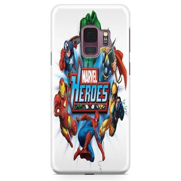 Marvel Heroes And Comic Book Samsung Galaxy S9 Case | Casefantasy