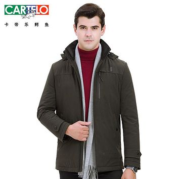 Cartelo/brand 2017 New Down Jacket White Duck collar Men Winter Autumn Warm Coat Fashion Thick Parka Jacket Coat For Male