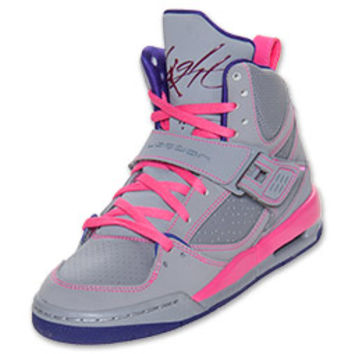 Girls' Jordan Grade School Flight 45 High Basketball Shoes