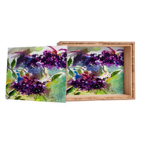 Ginette Fine Art Elder Berries Wild Fruit Jewelry Box