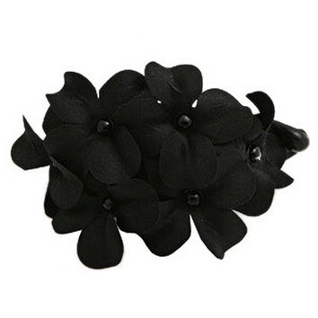 New Chic Black Flowers Hair Accessory