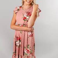 Roses and Polka Dots Dress