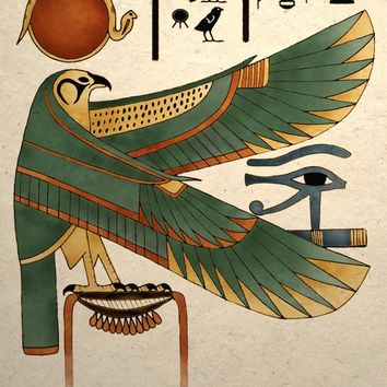 Ancient Egyptian Falcon Art Print