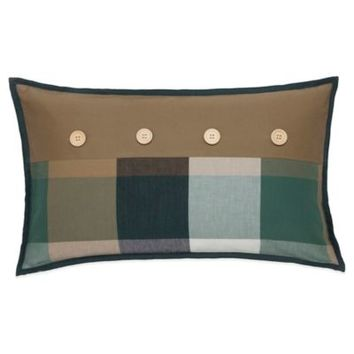 Southern Tide Woodlands Button Oblong Throw Pillow in Khaki